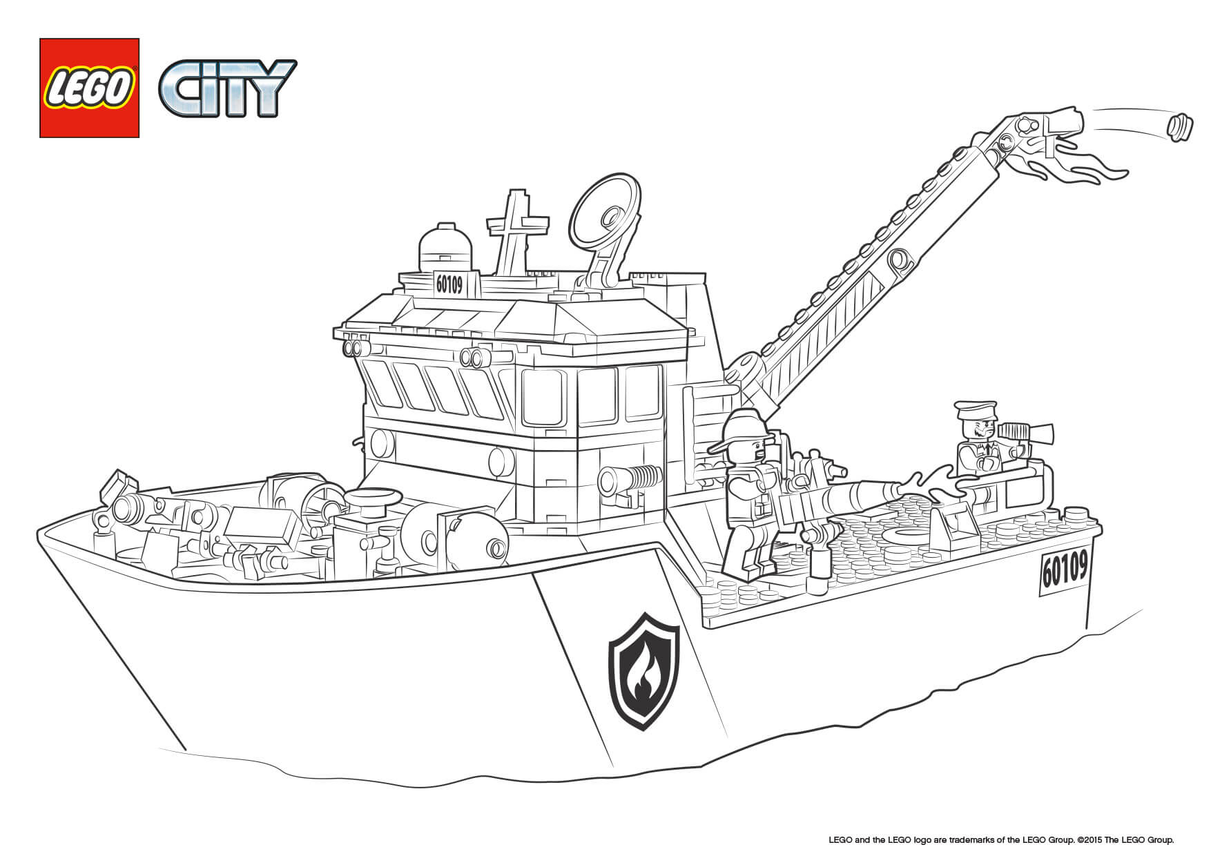 Coloring Page Lego City - Coloring Home