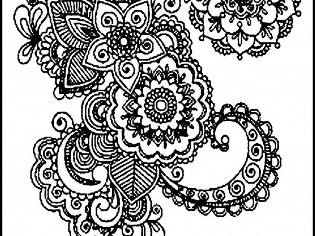 Free Coloring Pages For Adults Printable Hard To Color Abstract