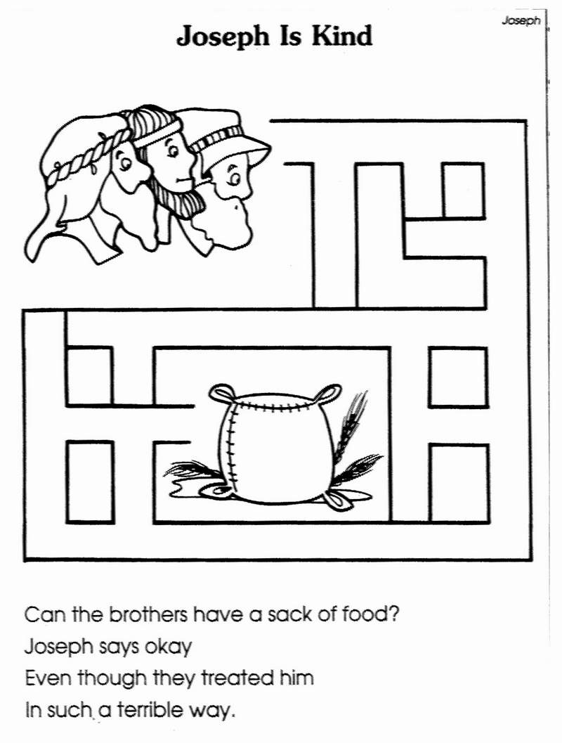 Joseph Reunited With His Brothers Coloring Page