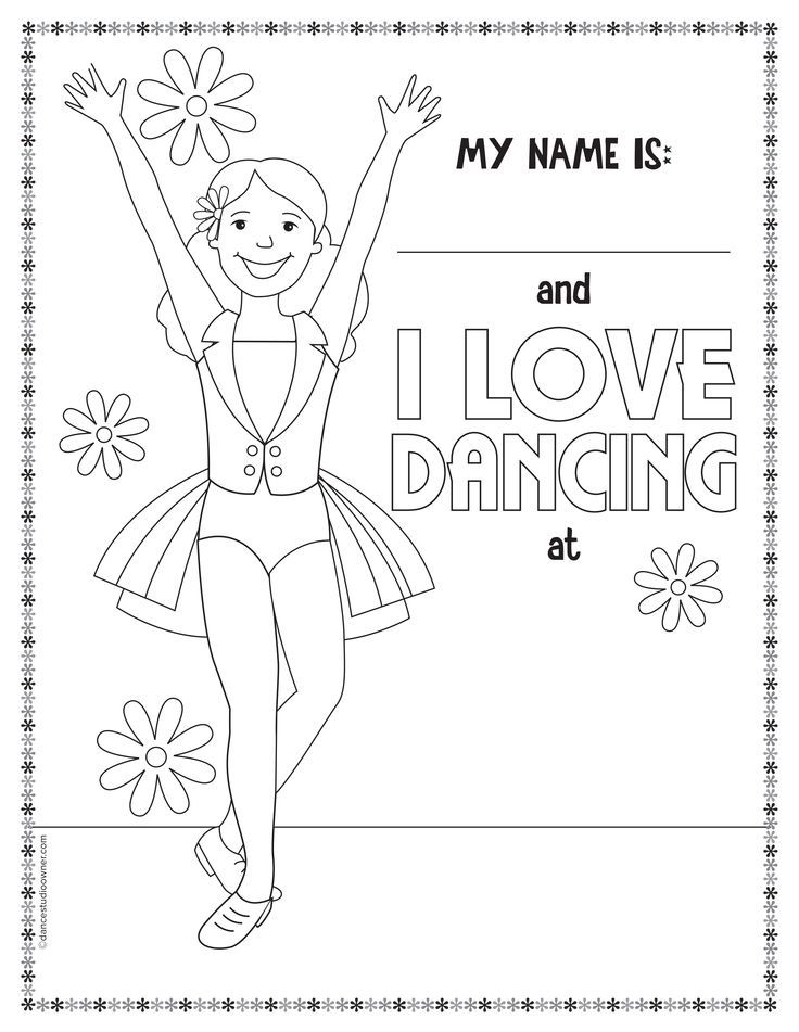 kids dancing coloring pages - photo#26