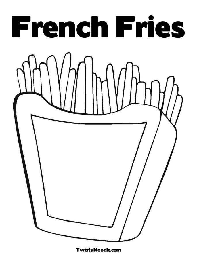 French fries coloring page coloring home for French coloring page