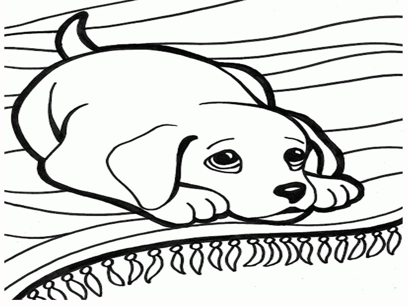 Easy Dog Coloring Pages For Girls Coloring Pages Dogs Coloring ...
