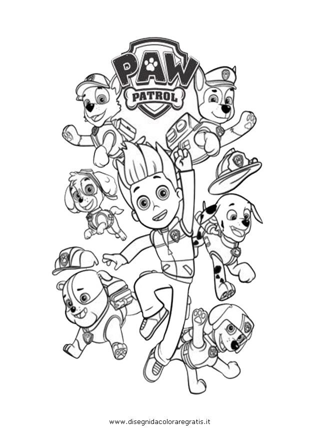 Coloring Pages Of Paw Patrol : Paw patrol coloring pages home