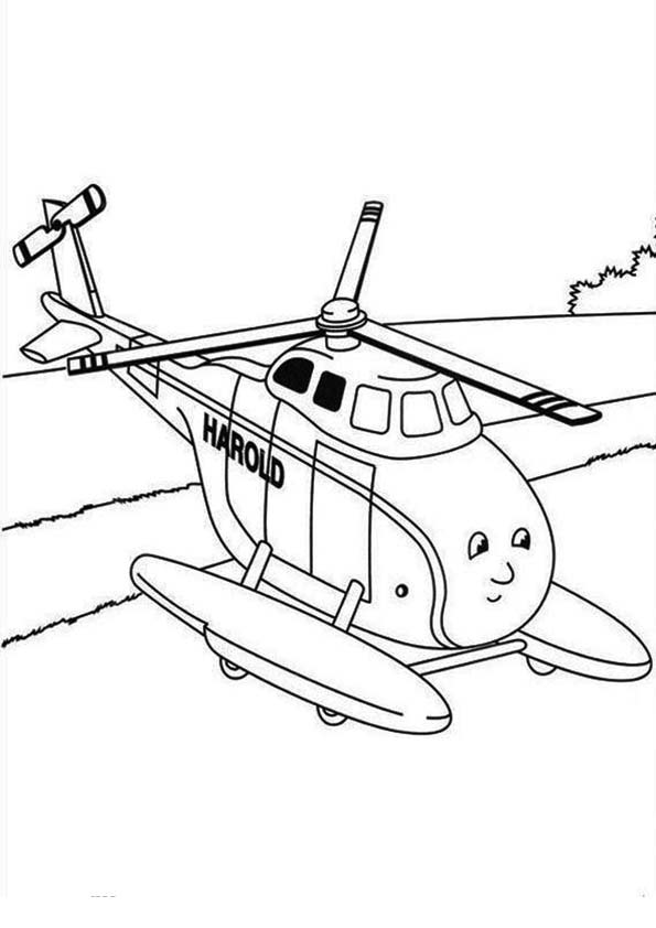 Helicopters With A Modern Shape Coloring Pages For Kids #0a ... | 842x595