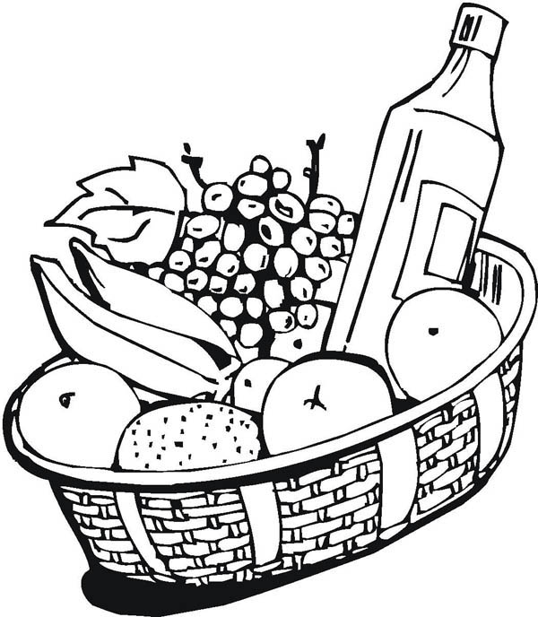 wine coloring book pages - photo#1