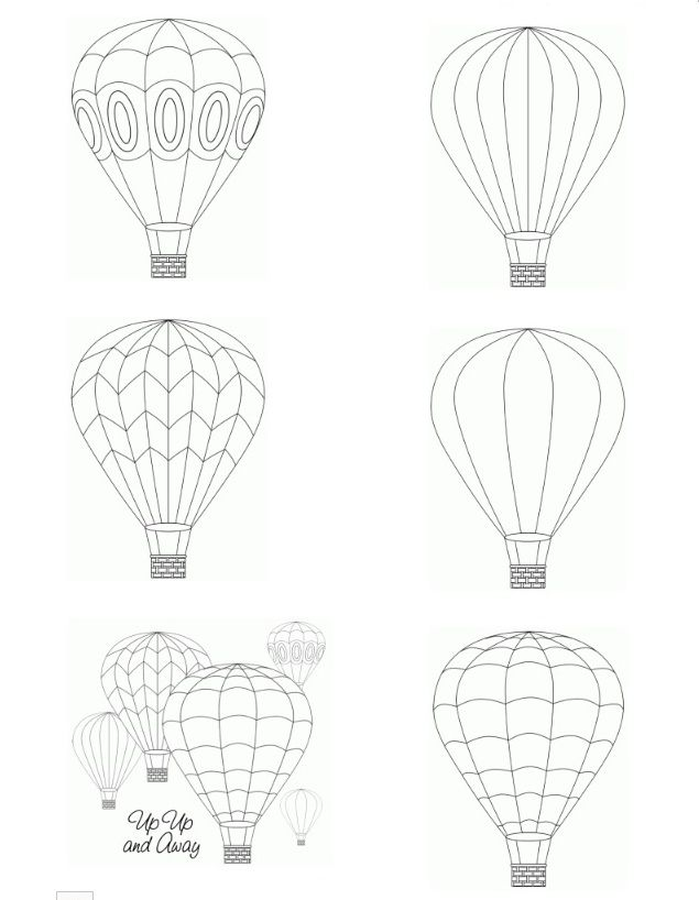 Printable Hot Air Balloon Template - Coloring Pages For Kids And ...