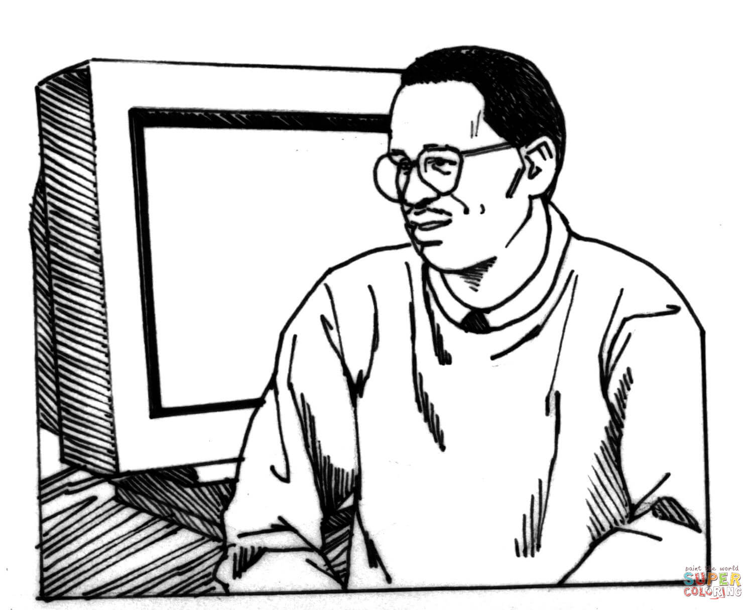 Malcolm X Coloring Page Coloring