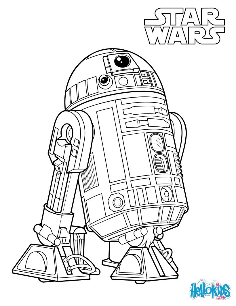 r2d2 coloring pages - photo #13