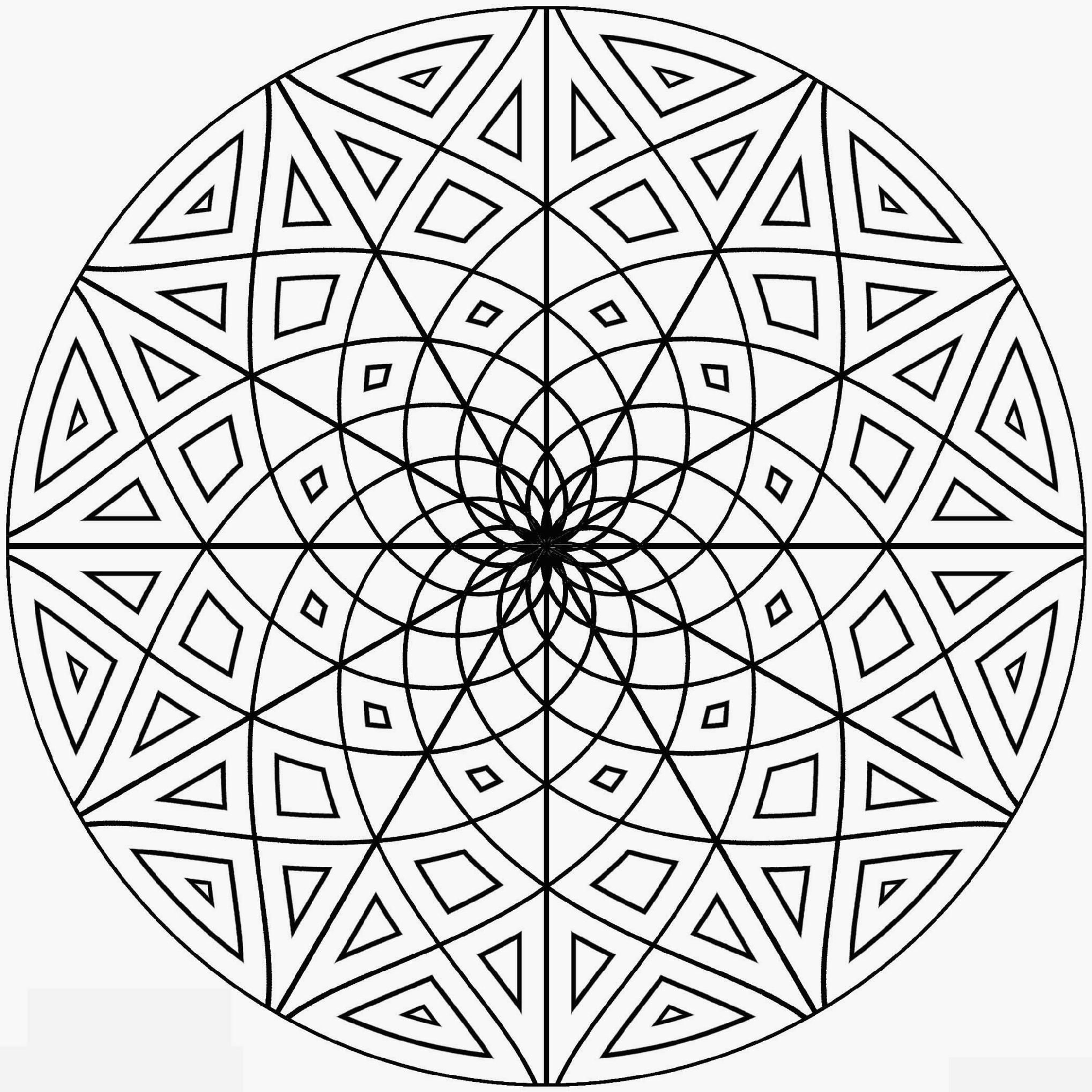 advanced mandala coloring pages printable - photo#21