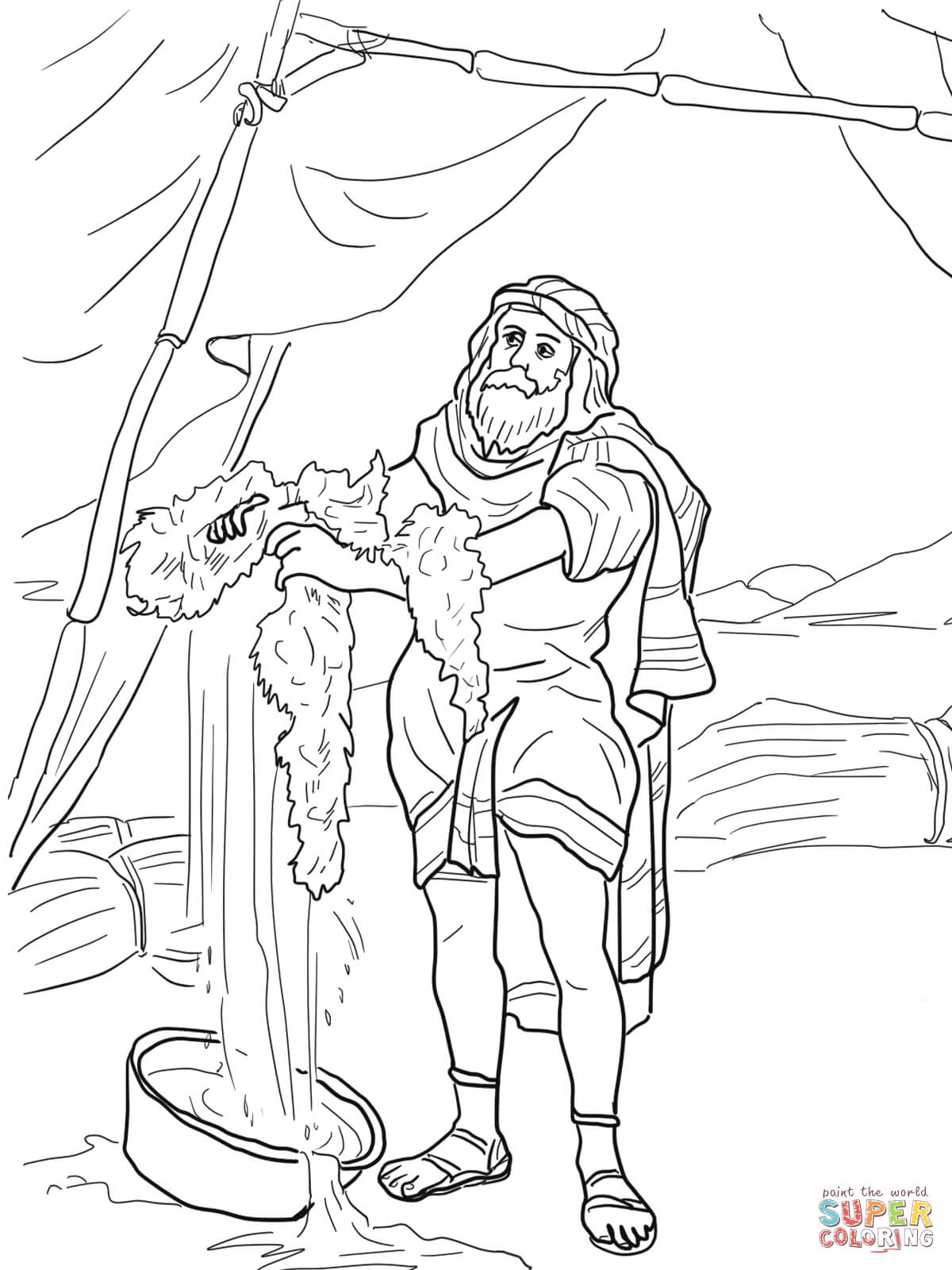 Gideon Coloring Page Free Coloring