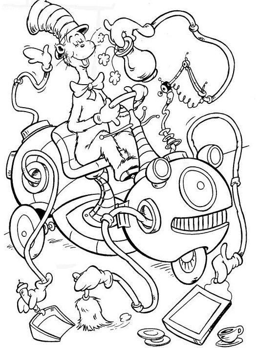Cat In The Hat Coloring Page - Coloring Home