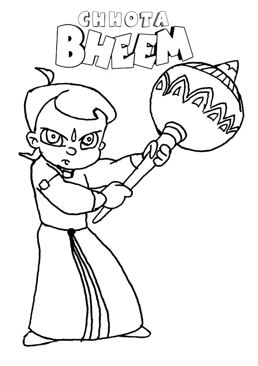 Colouring Pages Chota Bheem : Chota Bheem Images Coloring Home