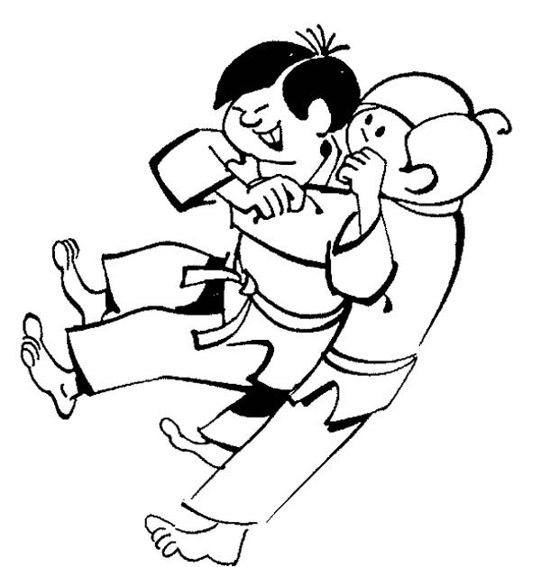 Karate Kid Sub Mission Style Coloring Page