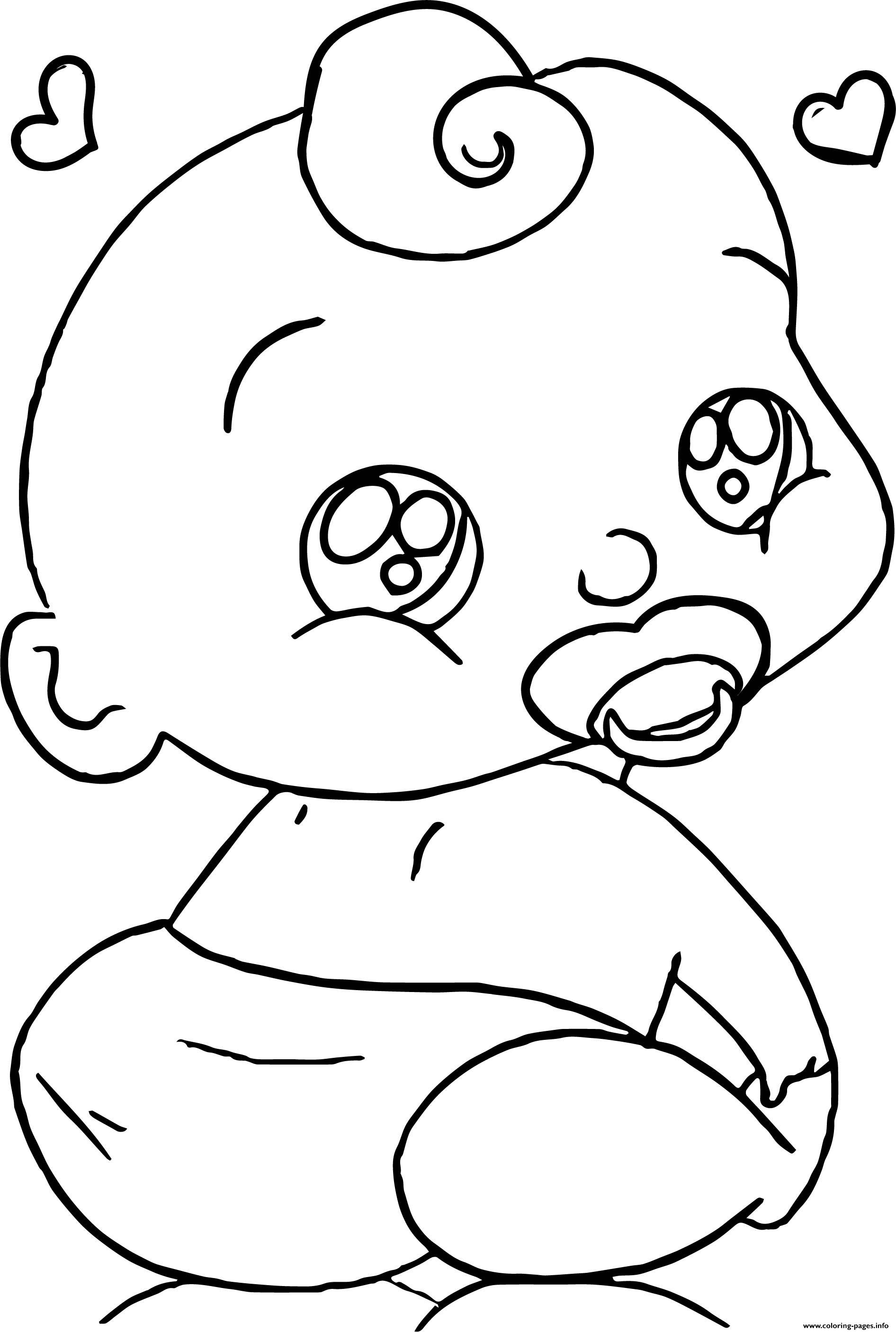 Cute Baby Boy Cartoon Face Coloring Pages Printable