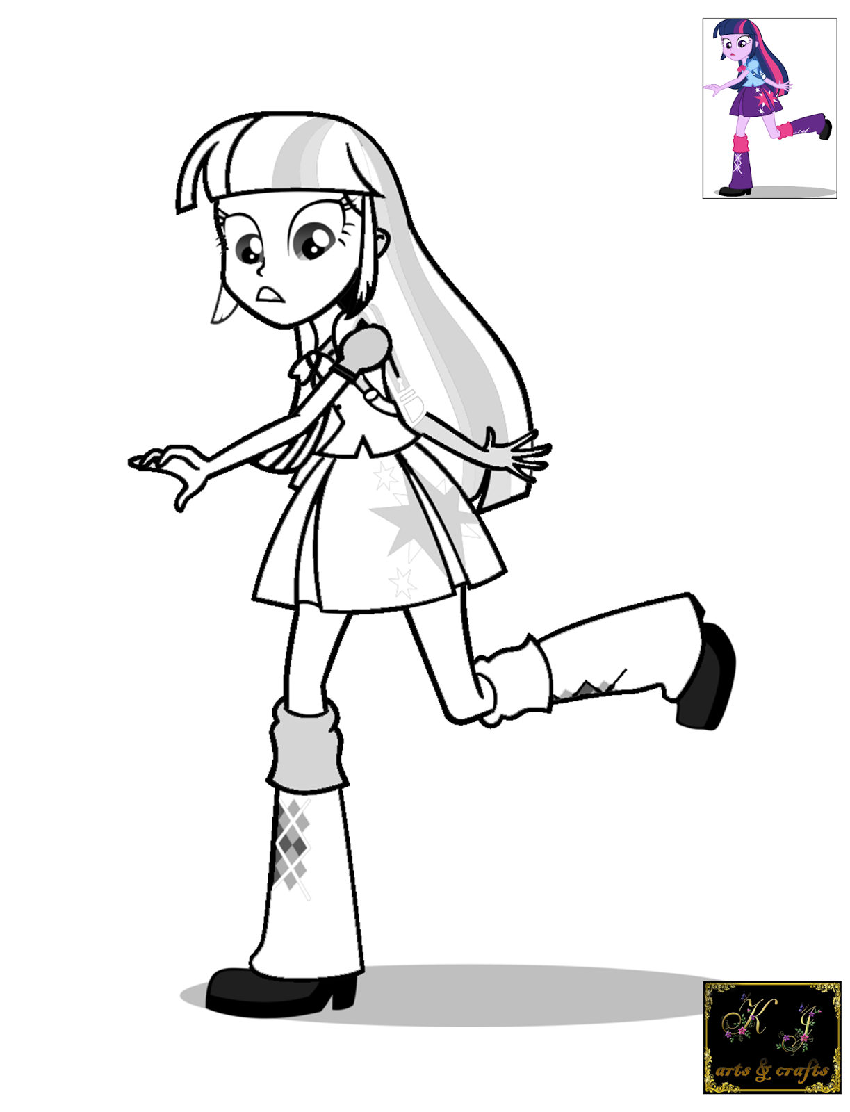KJ Coloring Pages: Twilight Sparkle Coloring Pages