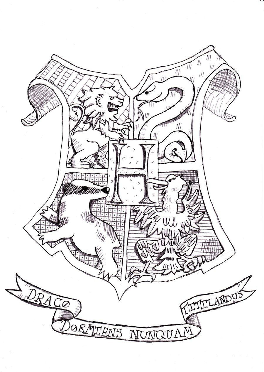 Harry potter coloring pages hogwarts crest coloring home for Dementor coloring pages