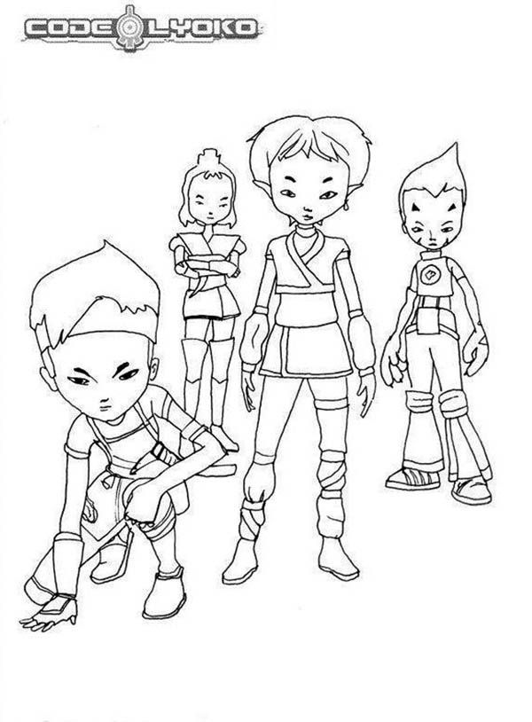 code lyoko coloring pages - photo#25