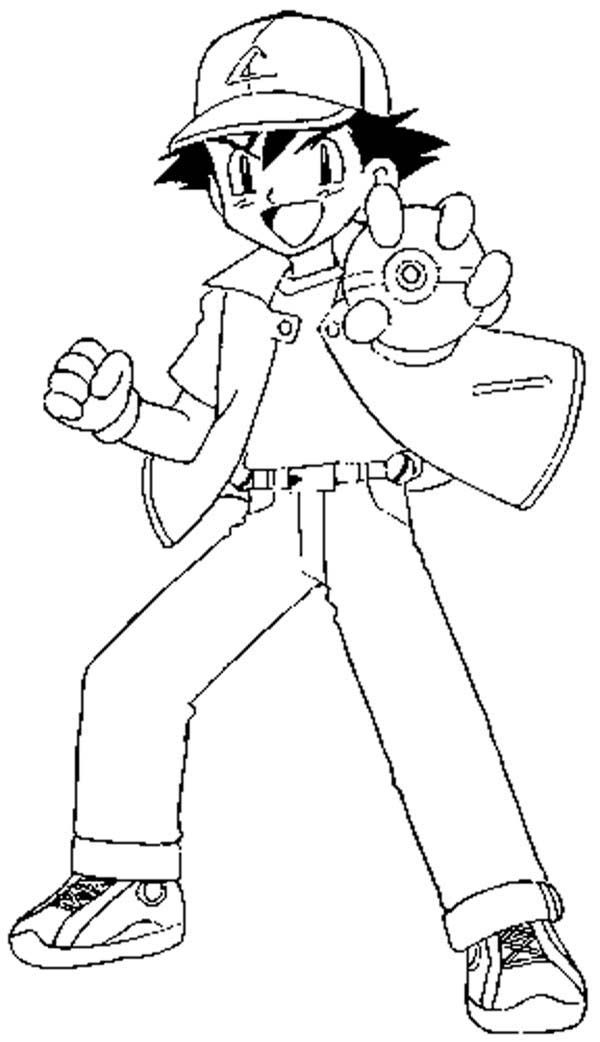 ash ketchum coloring pages - photo#5