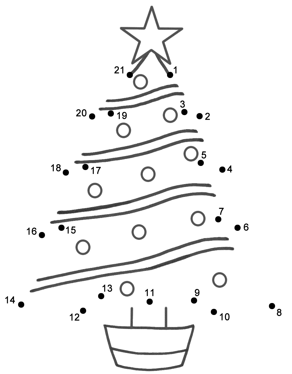 Christmas Dot To Dots - Coloring Pages For Kids And For Adults ...
