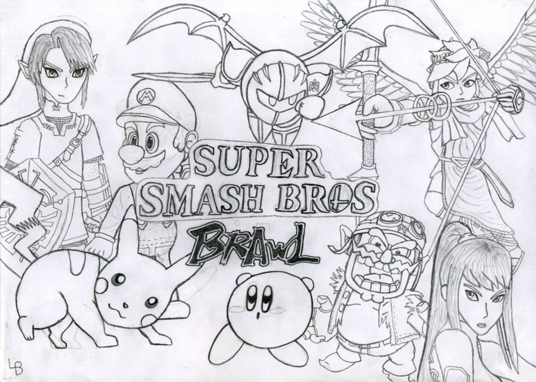 Wii U Coloring Pages : Samus Super Smash Bros Coloring Pages Coloring Home