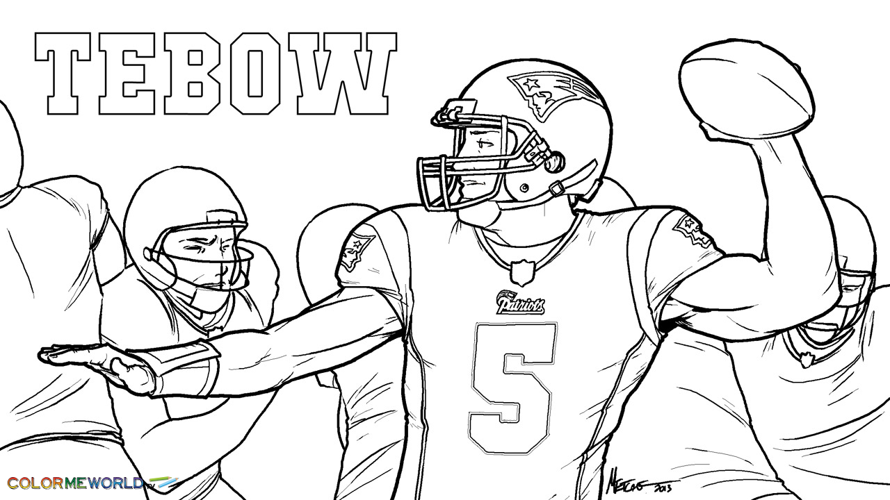Tom Brady Coloring Page Coloring Home