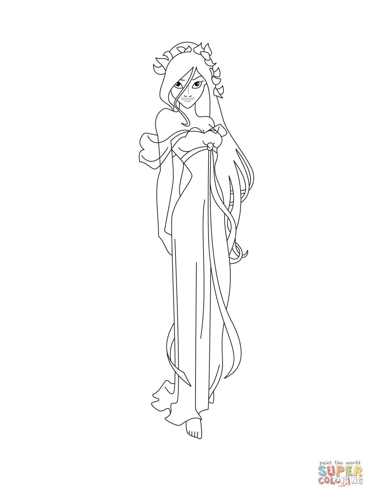 Princess giselle coloring pages - Giselle Coloring Page Free Printable Coloring Pages