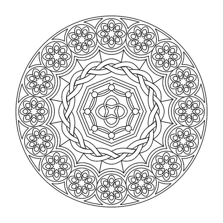 advanced mandala coloring pages printable - photo#25