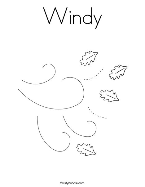 Windy Coloring Page - Twisty Noodle