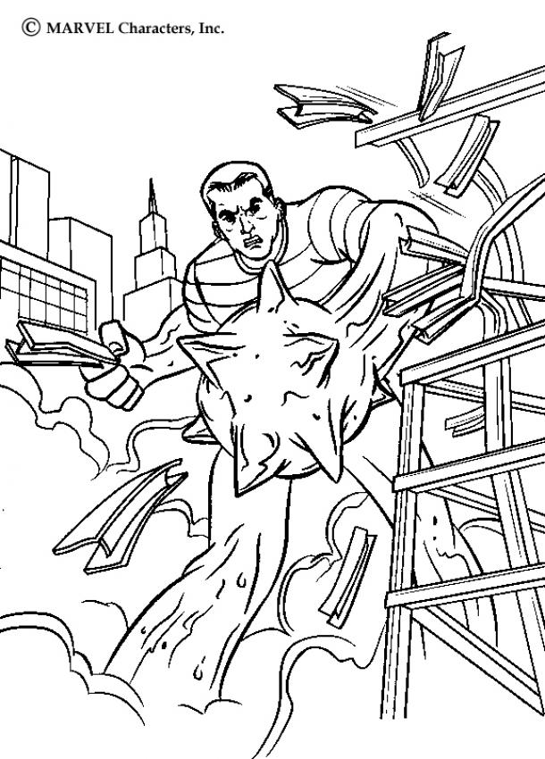 SPIDER-MAN Coloring Pages - Sandman's Power - Coloring Home