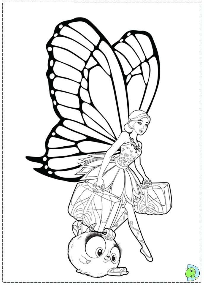 barbie mariposa and the fairy princess coloring page coloring home. Black Bedroom Furniture Sets. Home Design Ideas