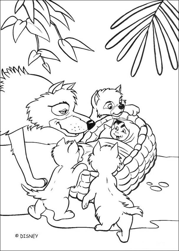 Mowgli Coloring Pages Coloring Home