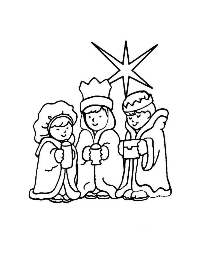 Three Wise Men Coloring Pages The Journey Of The Three Wise Men