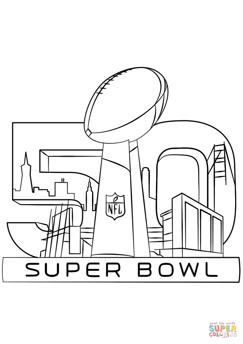 Super Bowl 2016 coloring page | Free Printable Coloring Pages