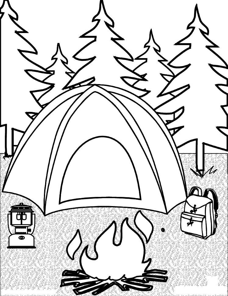 free camper coloring pages - free printable coloring pages for kids camping coloring
