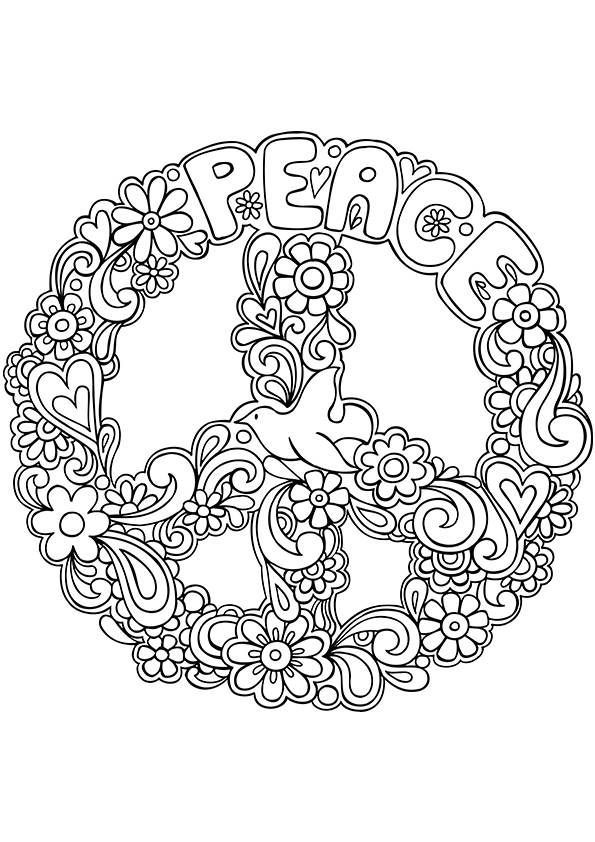 hippie coloring pages free - photo#29