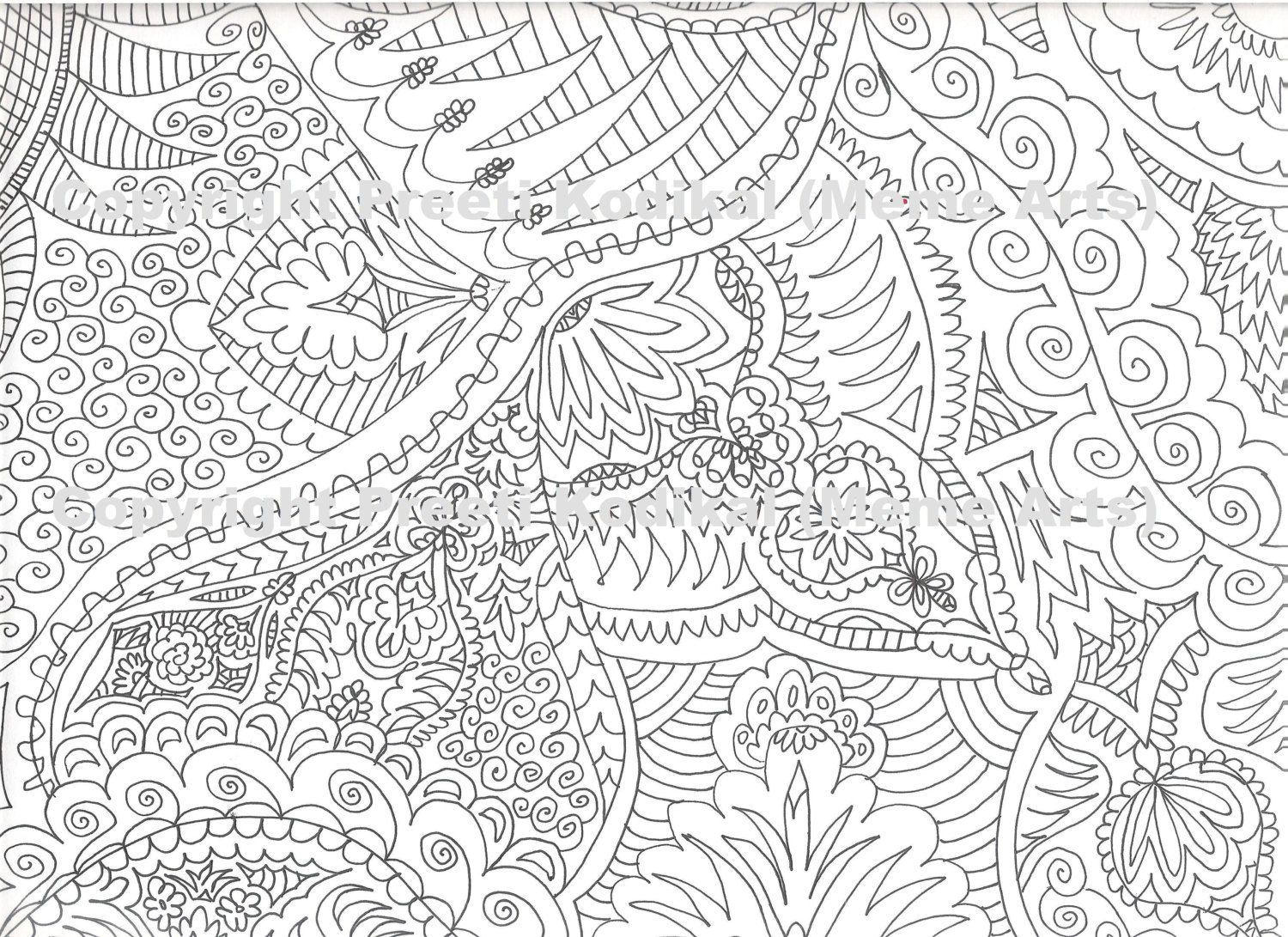 Coloring Pages For Adults Abstract  Coloring Home