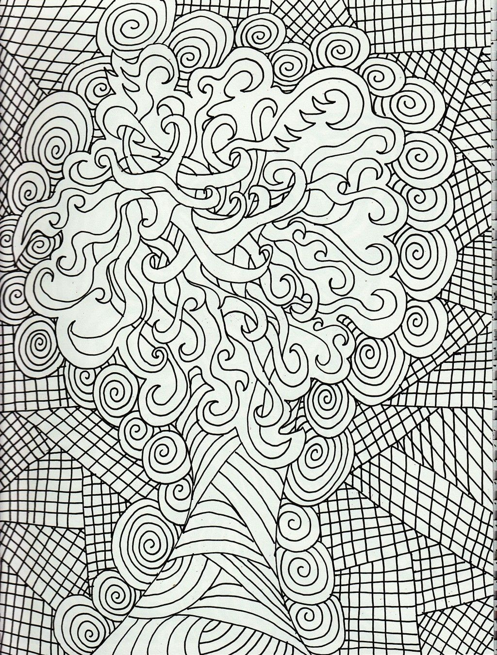 Detailed Coloring Pages Pdf : Adult coloring pages deer free color detailed