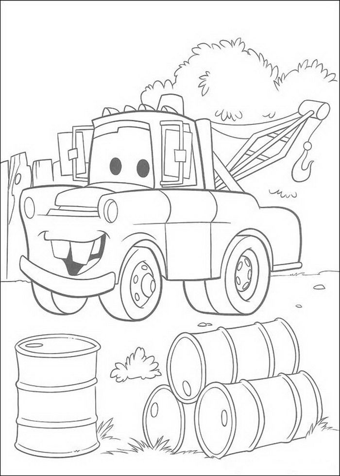 Disney Cars Coloring Pages Coloring Page For Kids | Kids Coloring