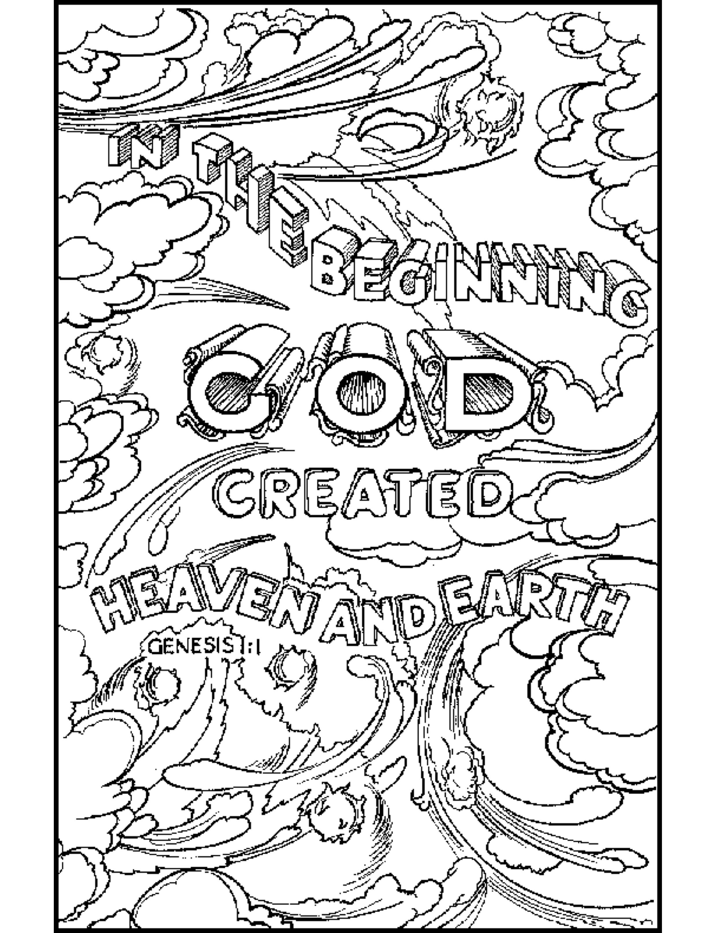 god coloring pages kids - photo#13