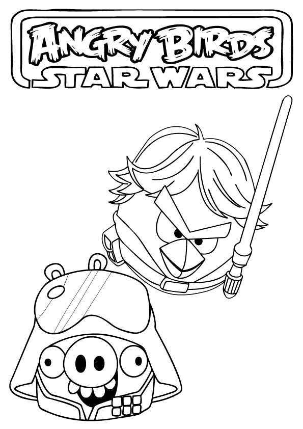 Angry Birds Star Wars Logo Coloring Pages