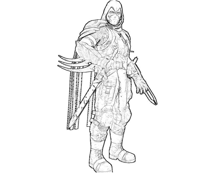 People Printable Deathstroke Coloring Pages Arkham Origins