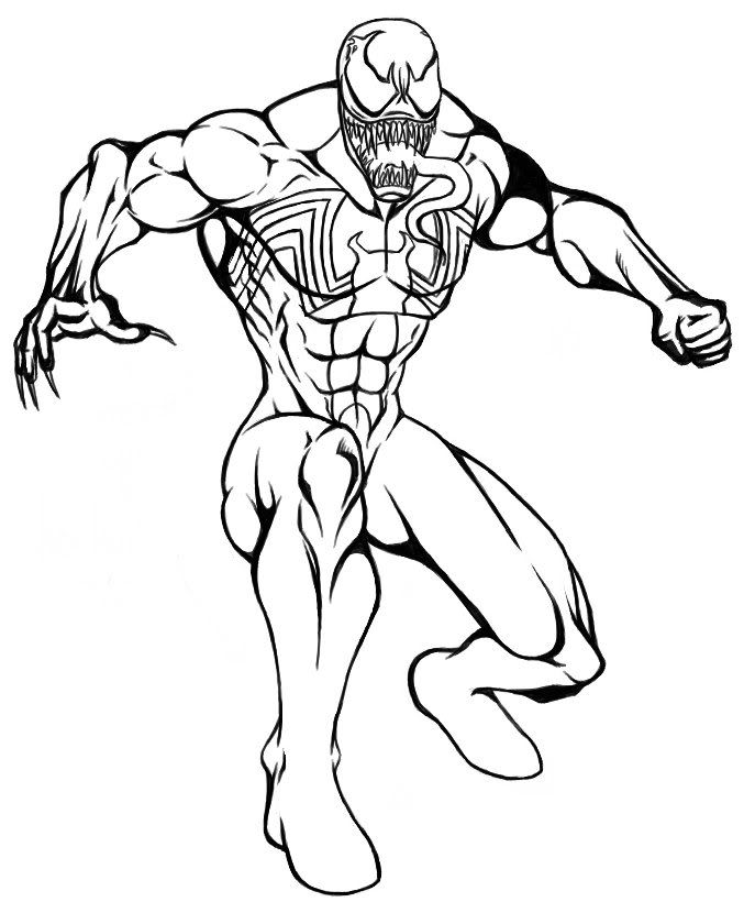 Spider Woman Vs Venom Coloring Coloring Pages