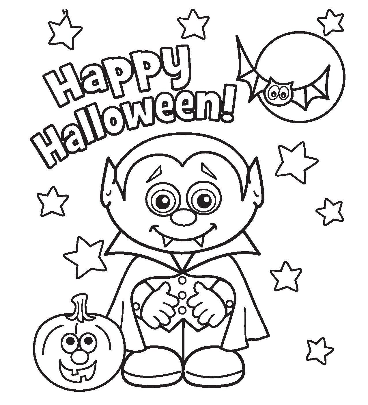 Color Halloween Coloring Pages - Coloring Pages For All Ages