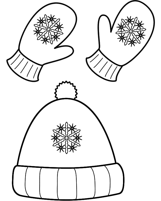 Snow Clothes Coloring Page - Coloring Home
