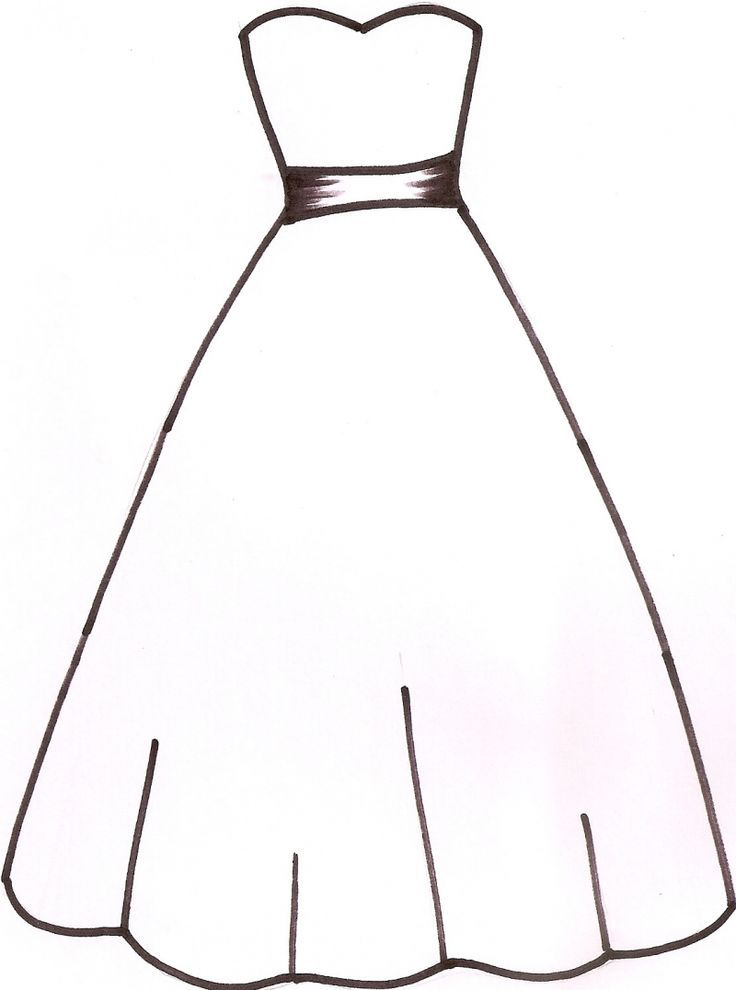 free dresses coloring pages - photo#23