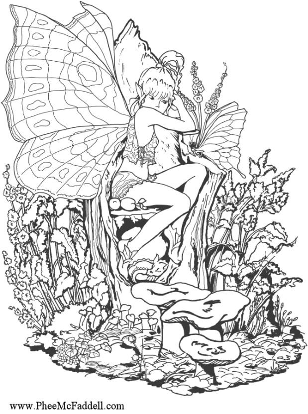 anime fairy coloring pages - photo#16