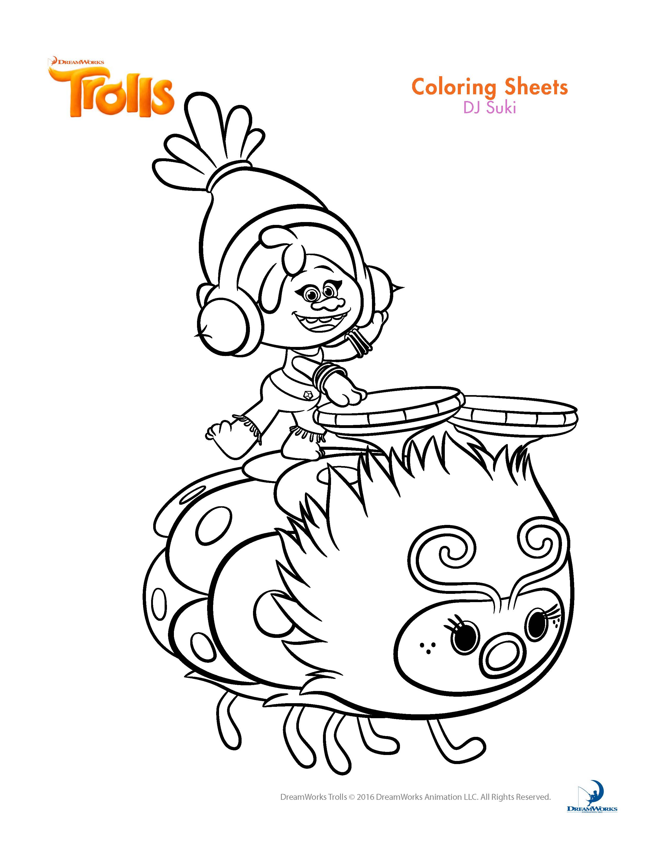 Colouring Pages For Trolls : Trolls movie coloring pages home