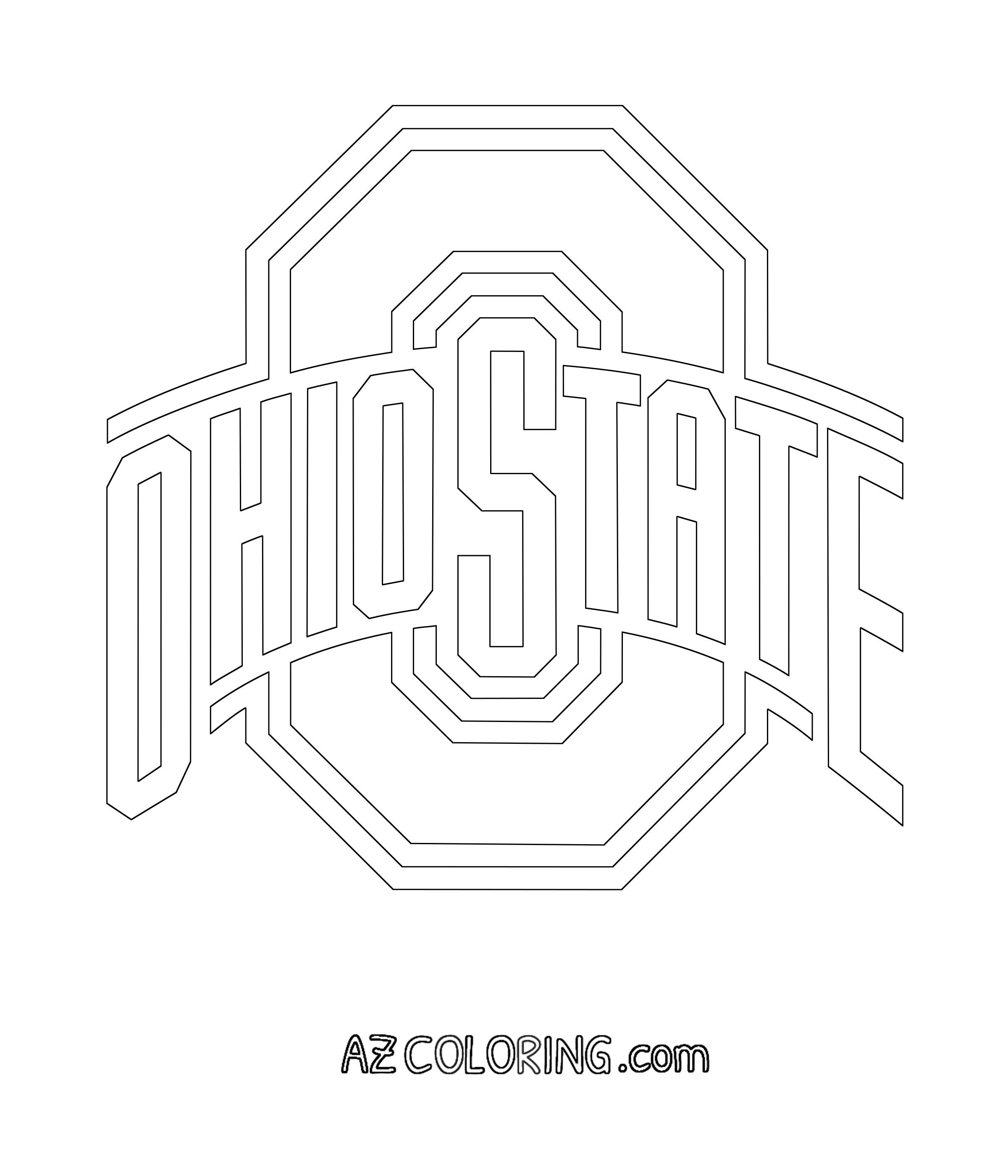 Ohio State Buckeyes Coloring Pages - Coloring Home