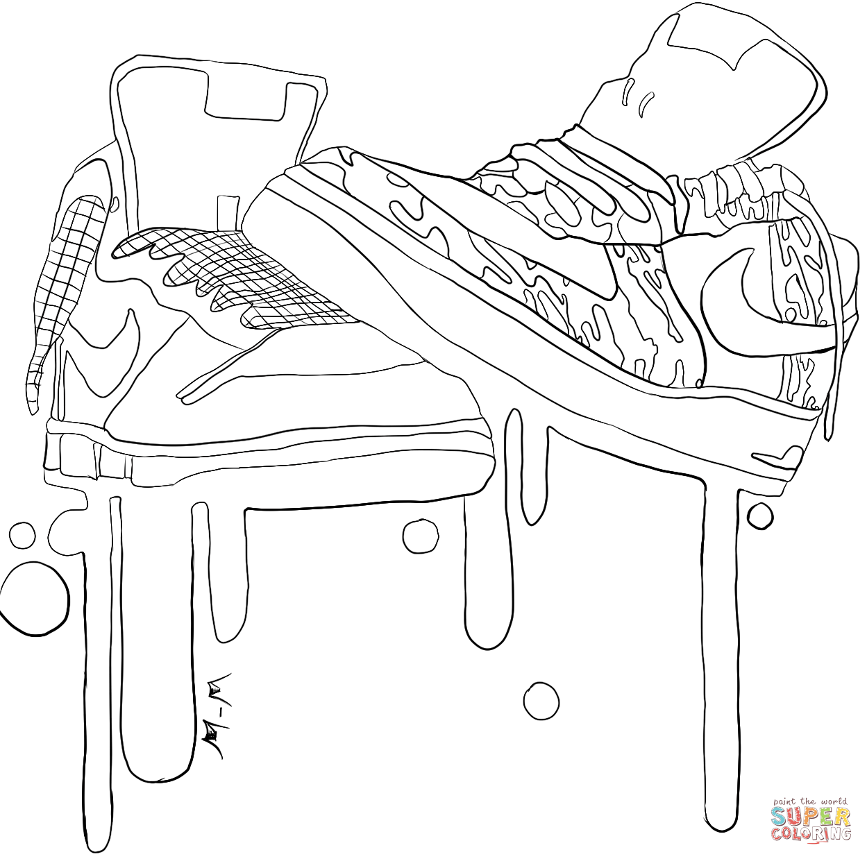 Jordan Shoes Coloring Pages Coloring
