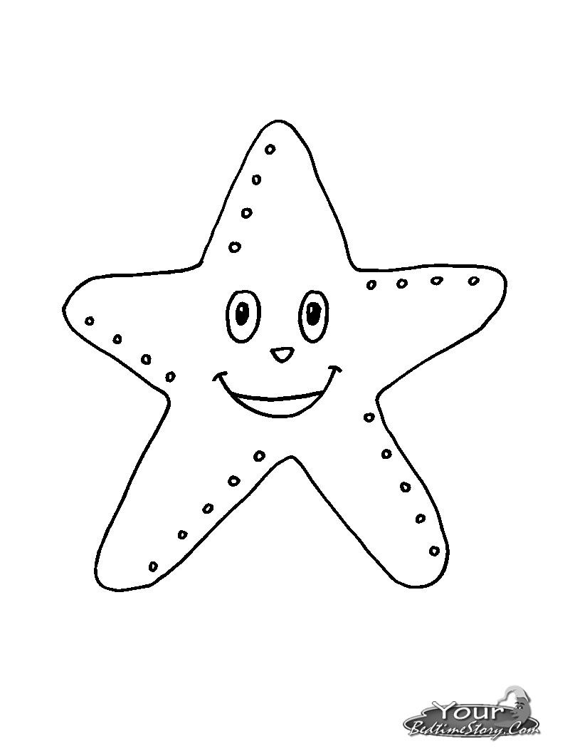 Starfish Coloring Page - Coloring Home